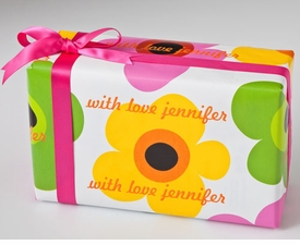 personalized gift wrap - mod blooms