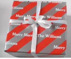 personalized gift wrap - peppermint ice