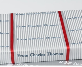 personalized gift wrap - silver stripe