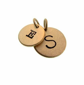personalized gold round charms