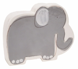 personalized grey elephant coin bank