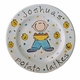 personalized hanukkah plate - boy