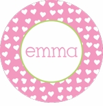 personalized happy hearts holiday plate (style 1p)