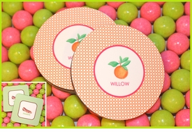 personalized hard board coasters (set of 6)