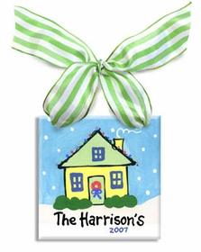 personalized home christmas ornament