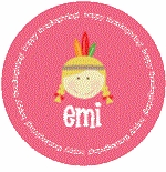 personalized indian holiday plate (style 1p)