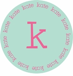 personalized initial plate (style 1p)