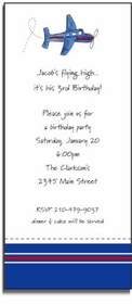 personalized invitations - airplane invitation