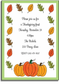 personalized invitations � autumn harvest