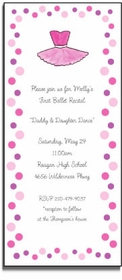 personalized invitations � ballerina girl