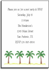 personalized invitations � beach party