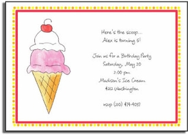 personalized invitations � double scoop