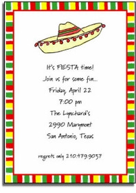 personalized invitations � fiesta