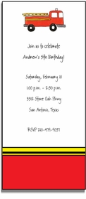 personalized invitations � firetruck