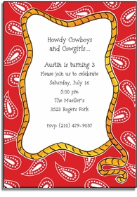 personalized invitations � howdy
