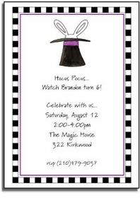 personalized invitations � magic trick