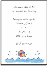 personalized invitations � make a splash