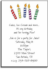 personalized invitations � make a wish