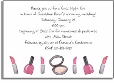 personalized invitations � makeup madness