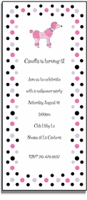 personalized invitations � pink poodle