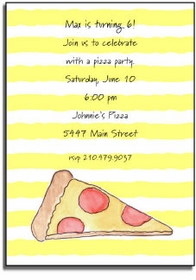 personalized invitations � pizza party