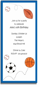 personalized invitations � sports fan