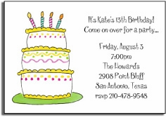 personalized invitations � take the cake