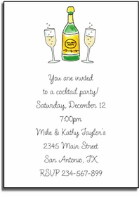 personalized invitations � toast of champagne