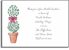 personalized invitations � topiary