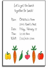 personalized invitations � veggie garden