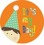 personalized it's my day! {brunette boy} plate