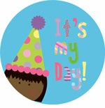 personalized it's my day! {dark-skinned girl} plate