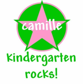 personalized kindergarten rocks tee shirt