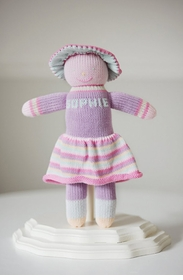 personalized knit cotton doll - sophie