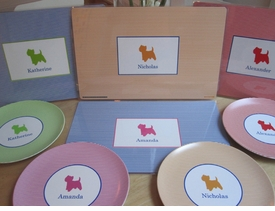 personalized laminated placemat