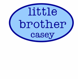 personalized little brother tee shirt - oval