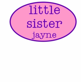 personalized little sister tee shirt - oval