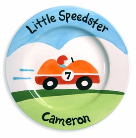 personalized little speedster plate