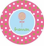 personalized lollipop plate (style 1p)