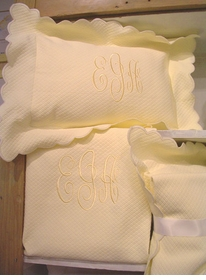 personalized matelasse set by sweet william