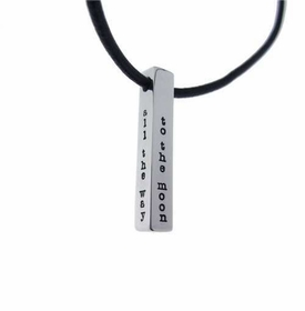personalized men's bar necklace