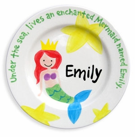 personalized mermaid plate