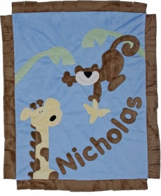 personalized monkey business blanket