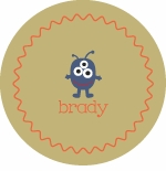 personalized monster boy plate (style 2p)