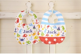 personalized nautical bibs