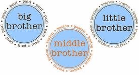 Personalized, Original Brother Shirt (Big, Middle, Little)