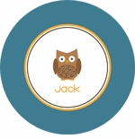 personalized owl boy plate (style 3p)