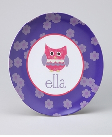 personalized owl plate