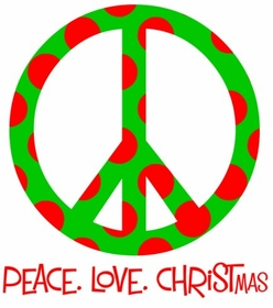 personalized peace love christmas tee shirt