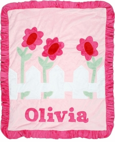 personalized picket fence blanket